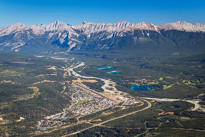Jasper Townsite & the Colin Range, from Whistlers Mountain, Jasper National Park, Alberta