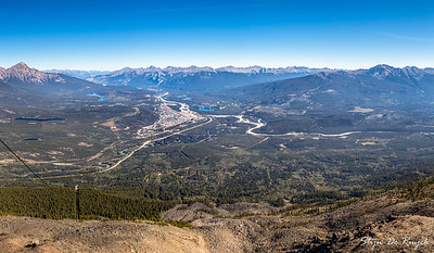 Jasper Townsite and the Victoria Cross, Colin & Maligne Range, from Whistlers Mountain, Jasper National Park, Alberta