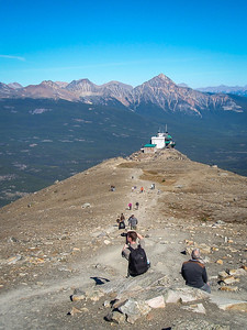 Pyramid Mountain and Jasper Tramway, from Whistlers Mountain, Jasper National Park, Alberta