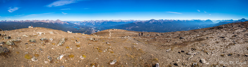 Victoria Cross, Colin & Maligne Range, from Whistlers Mountain, Jasper National Park, Alberta