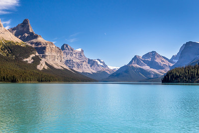 View from Maligne Lake, Jasper National Park, Alberta