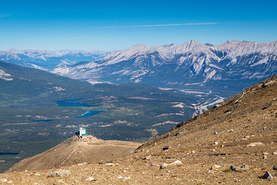 Jasper Tramway & the Colin Range, from Whistlers Mountain, Jasper National Park, Alberta