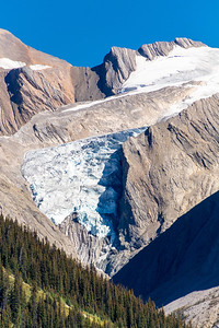 Glacier, from Maligne Lake, Jasper National Park, Alberta