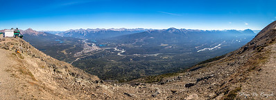 Jasper Tramway & Townsite and the Victoria Cross, Colin & Maligne Range, from Whistlers Mountain, Jasper National Park, Alberta